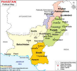 Pakistan Province Map