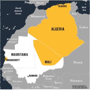 Map of AQIM